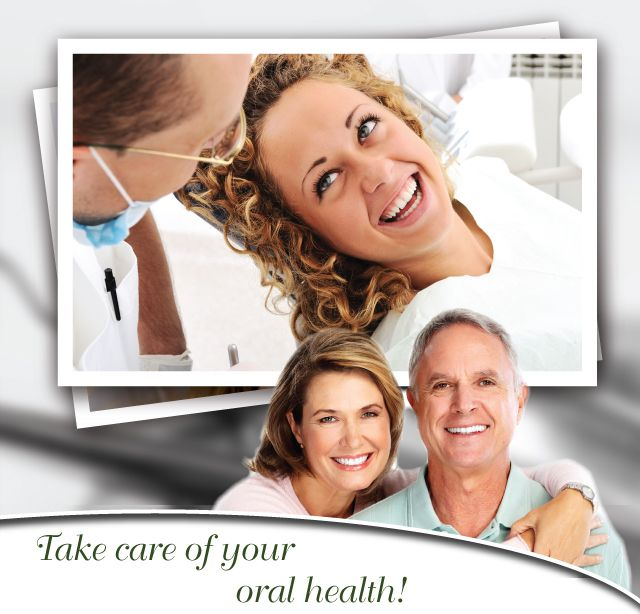 Take care of your oral health! - Smiling woman