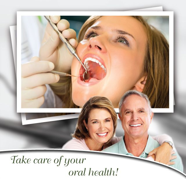 Take care of your oral health! - Woman getting dental treatment